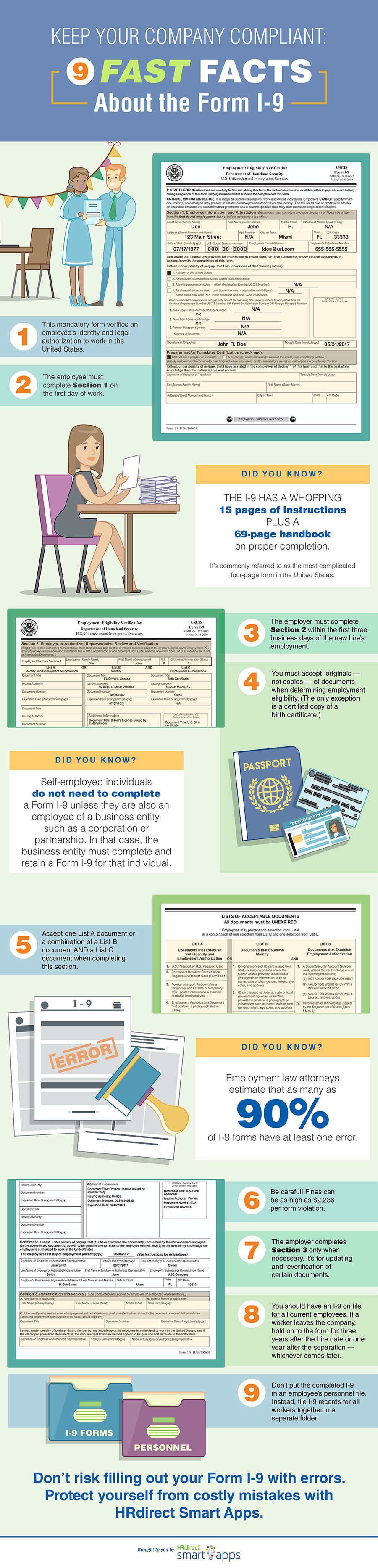 How To Fill Out An I9 Form Correctly Simple Guidelines For Employers